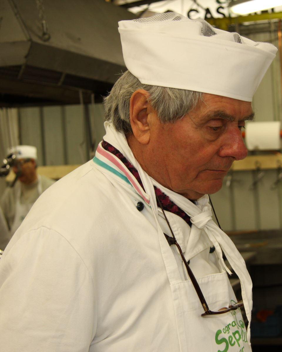 Lo chef Farabegoli