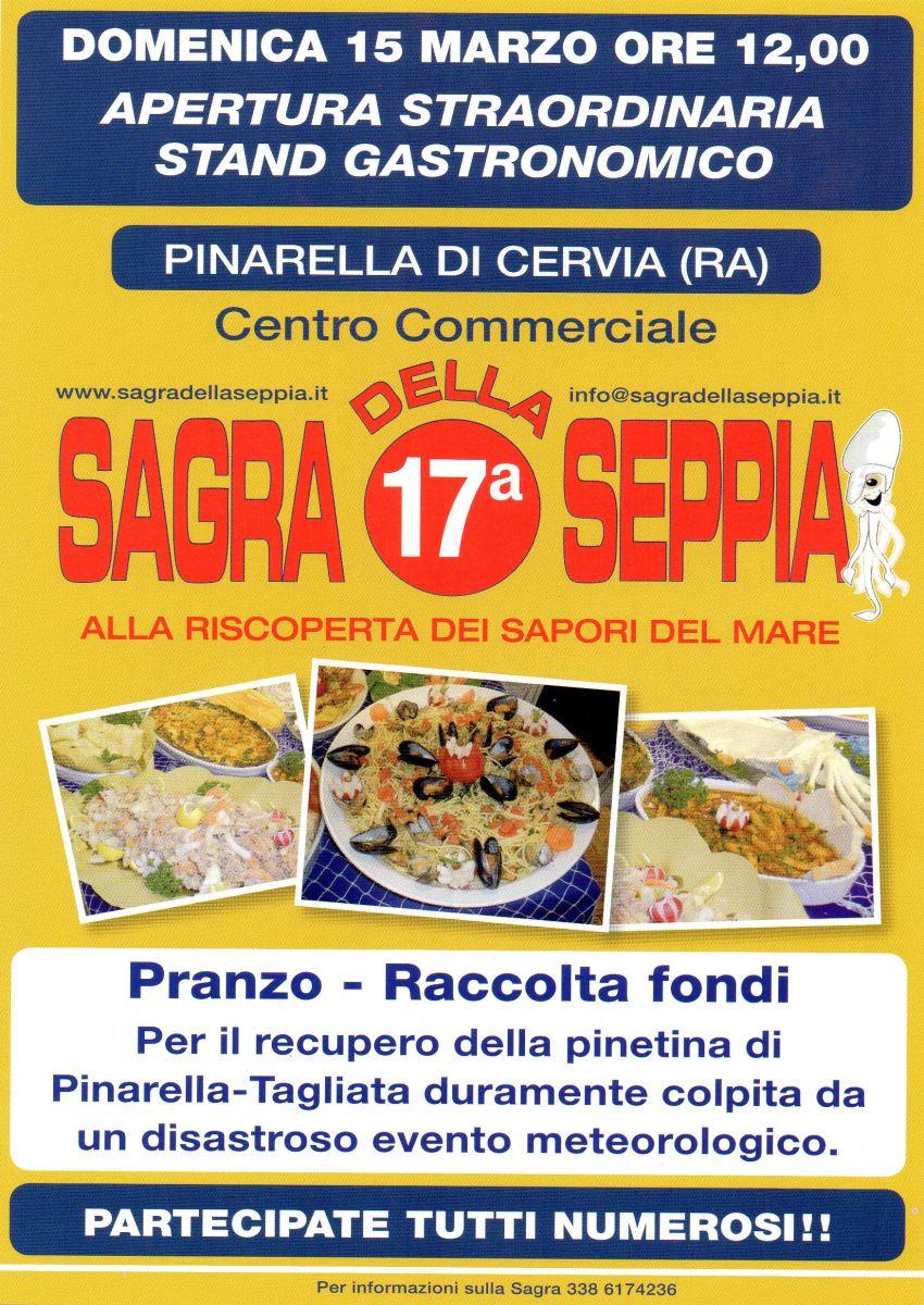 Pranzo alla Sagra della Seppia per la raccolta fondi per la pineta di Pinarella